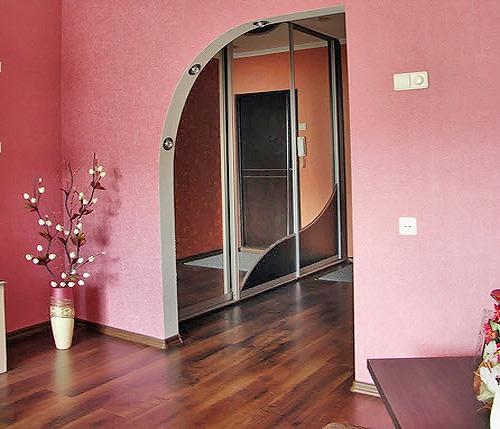 арка из гипсокартона фото