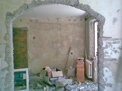 как подготовить дверной проем для арки фото