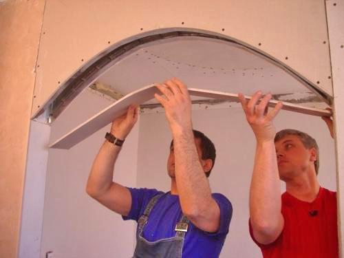 изготовление арок из гипсокартона