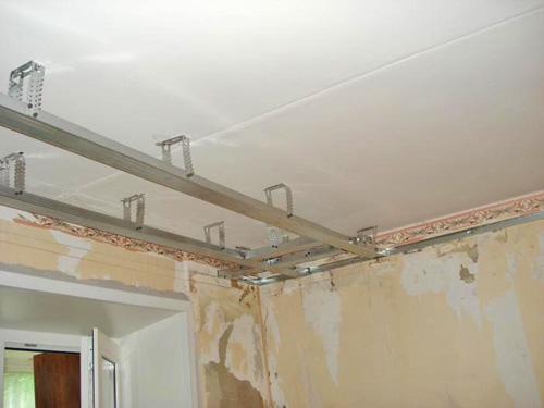 монтаж гипсокартона на потолок своими руками