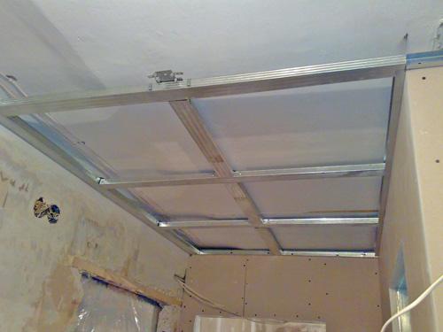 Каркас потолка из профиля под гипсокартон своими руками фото 308