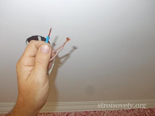 как установить точечные светильники своими руками мастер-класс
