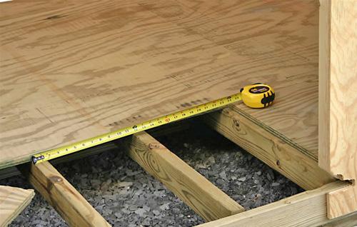 монтаж деревянного пола вентиляция