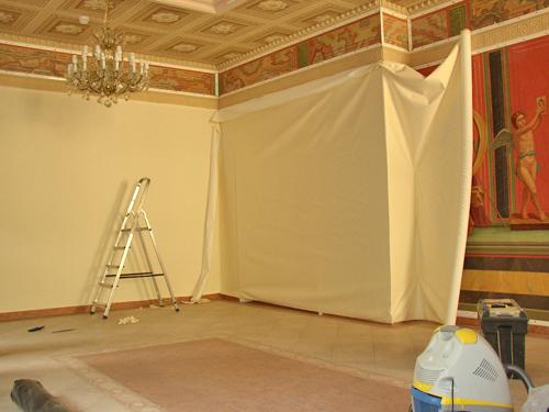 обивка стен тканью своими руками фото