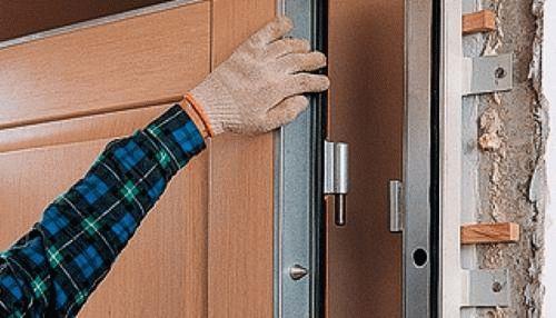 как установить входную металлическую дверь фото