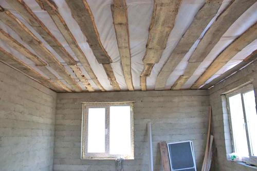 как утеплить потолок фото