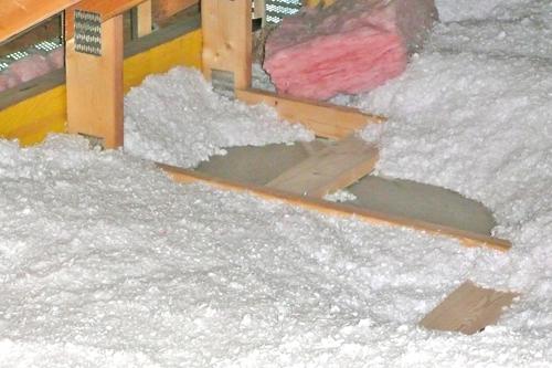 утепление потолка полистиролом фото