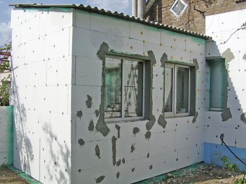 утепление наружной стены пенопластом своими руками фото