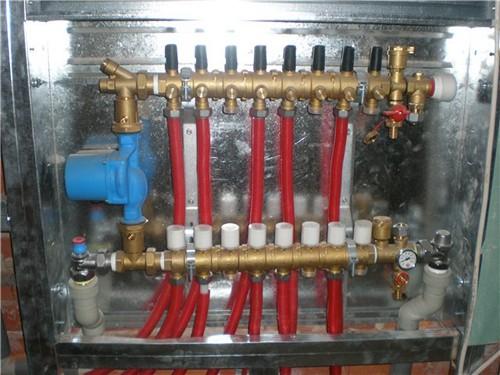 схема теплого водяного пола распределительный коллектор
