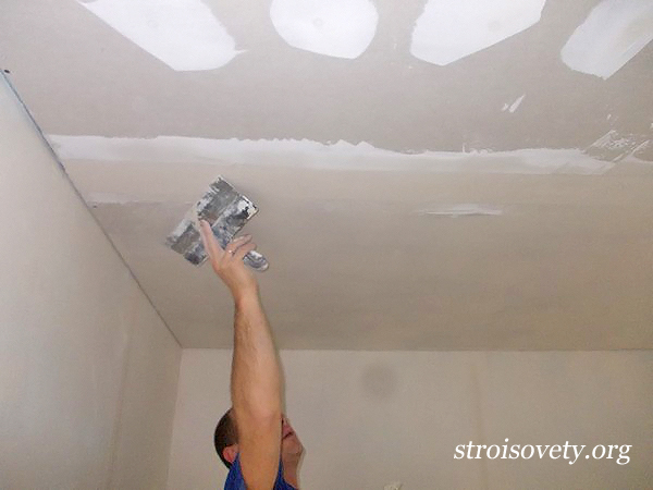 как шпаклевать потолок своими руками мастер-класс с фото
