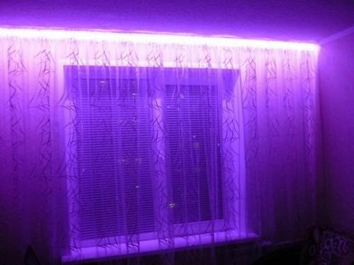 светодиодная подсветка штор фото