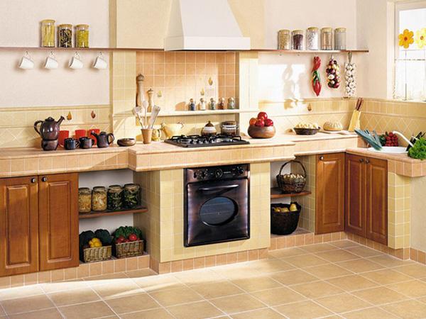 какой пол сделать на кухне фото