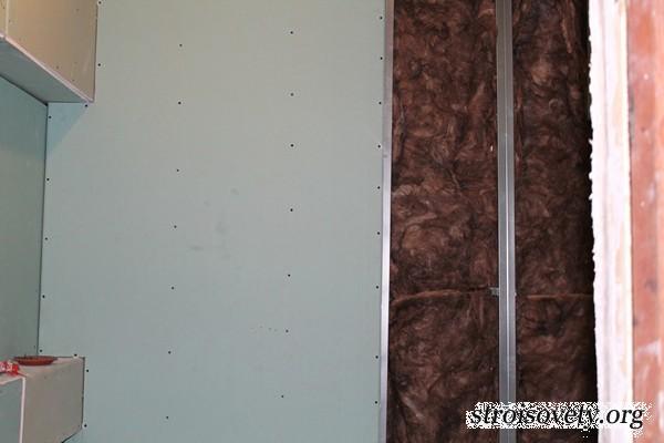 утепление и выравнивание стен в ванной гипсокартоном фото