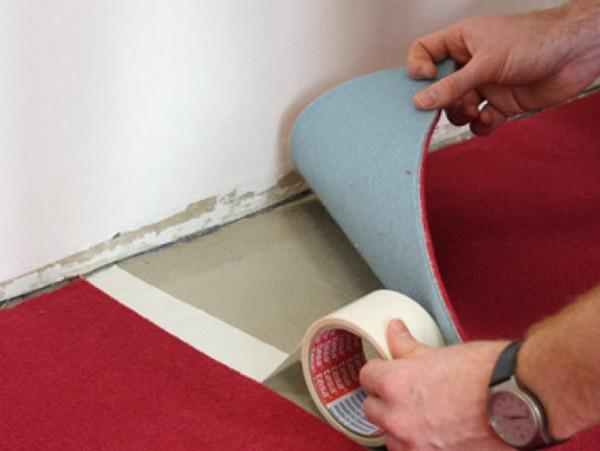 укладка ковролина своими руками фото