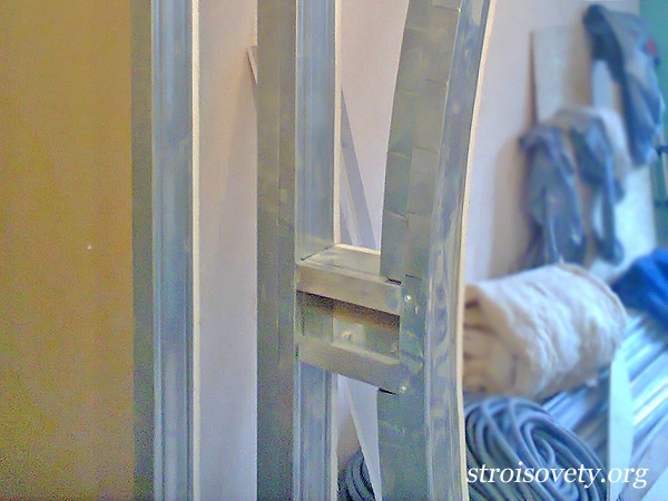 как сделать каркас для межкомнатной арки из гипсокартона фото
