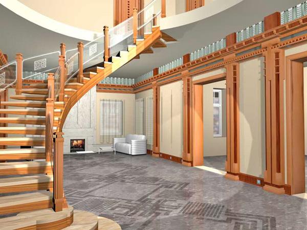 красивые лестницы для загородного дома фото