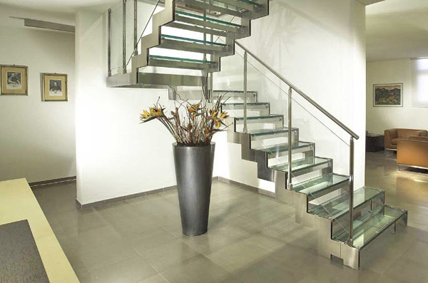 комбинированные лестницы для загородного дома фото