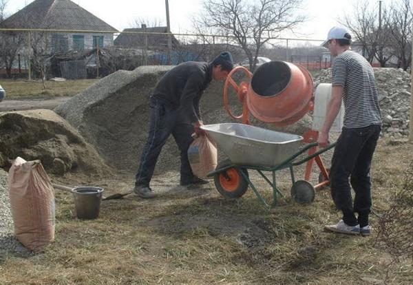 как приготовить бетон для фундамента своими руками фото