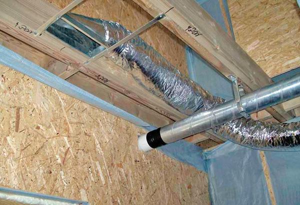 монтаж вентиляции в частном доме фото