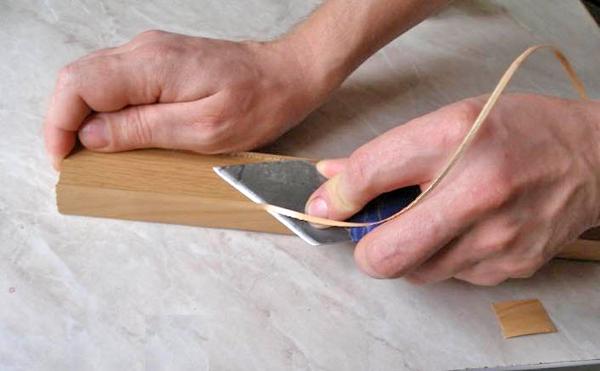 как обрезать кромку на торце ДСП фото