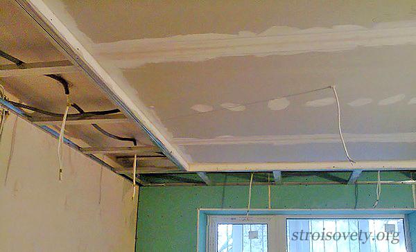 как сделать двухуровневый потолок с подсветкой своими руками фото