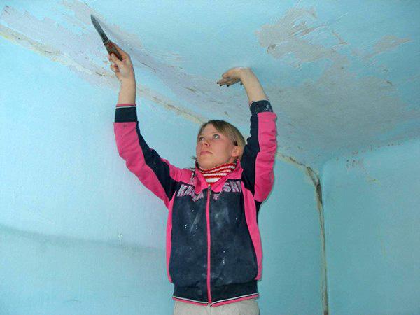 как подготовить потолок к штукатурке фото