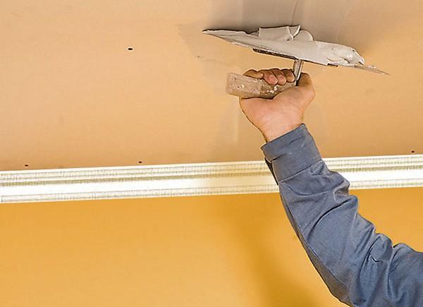 технология выравнивания потолка гипсокартоном фото