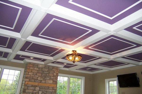 кессонный потолок из гипсокартона фото
