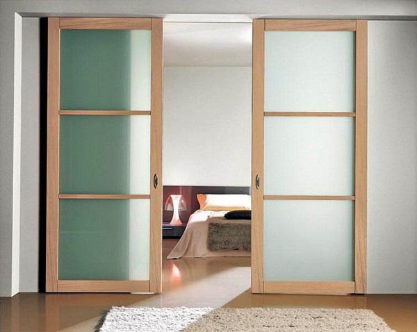 как установить раздвижные двери своими руками