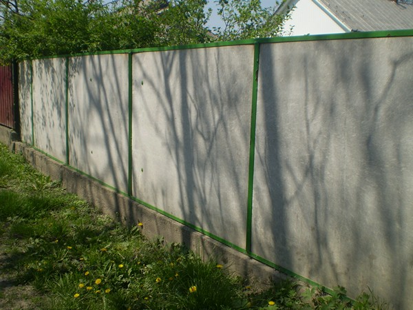 забор из плоского шифера фото