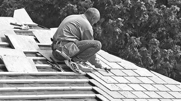 монтаж крыши из плоского шифера фото