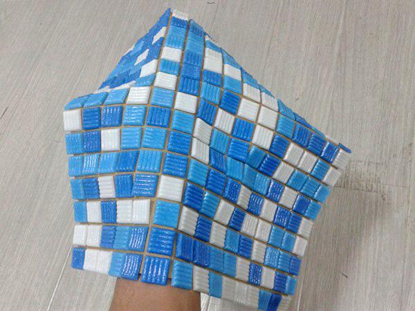 как клеить мозаику на сетке своими руками фото