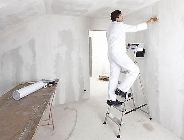 как подготовить стены под обои фото