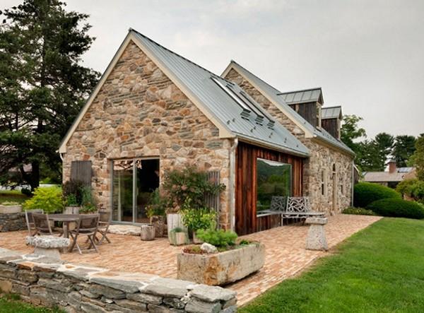 каменные дома фото