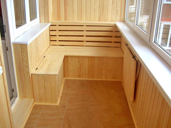 внутренняя отделка балкона фото