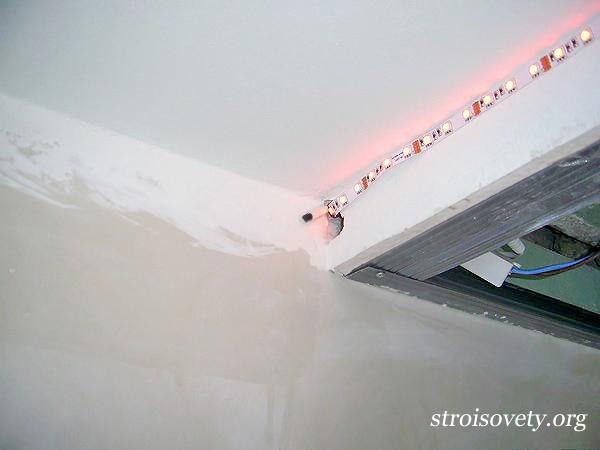 установка светодиодной подсветки фото