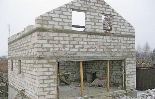 дом из пеноблоков своими руками фото