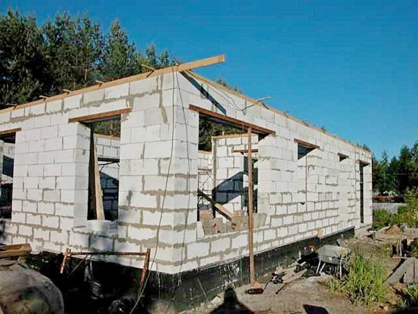 постройка дома из пеноблоков своими руками фото
