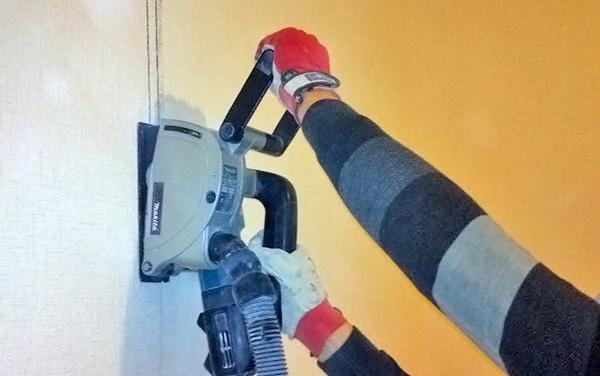как штробить стены под проводку фото