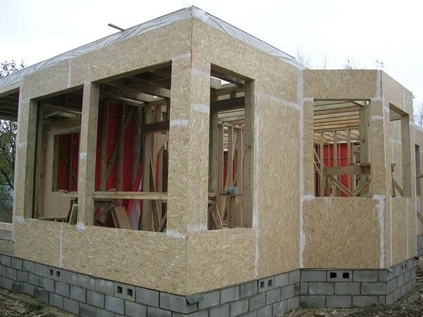 как построить каркасно щитовой дом фото