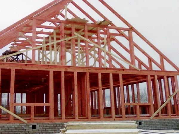 как построить каркасно рамочный дом фото