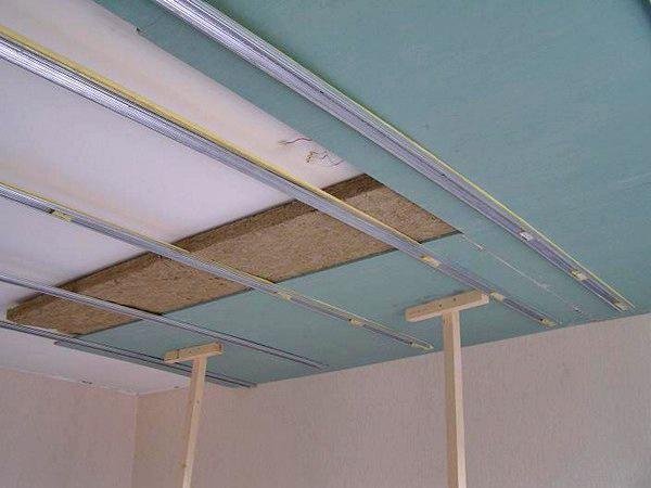 шумоизоляция потолка своими руками фото