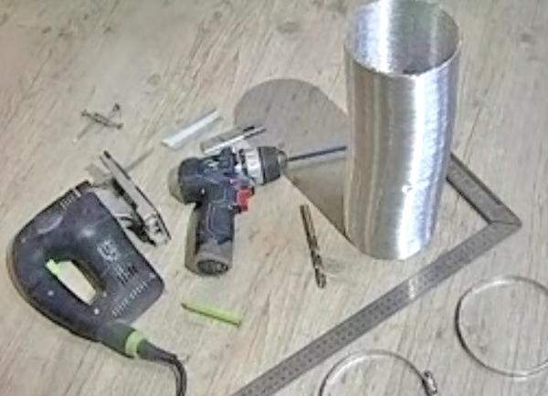 инструменты и материалы для установки вытяжки фото