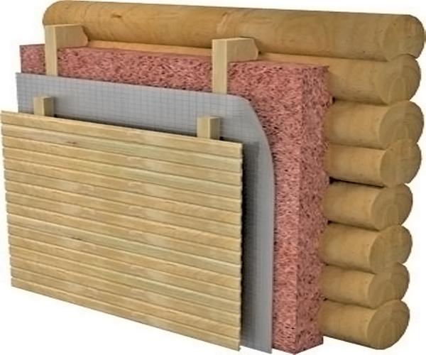 технология утепления стен деревянного дома фото