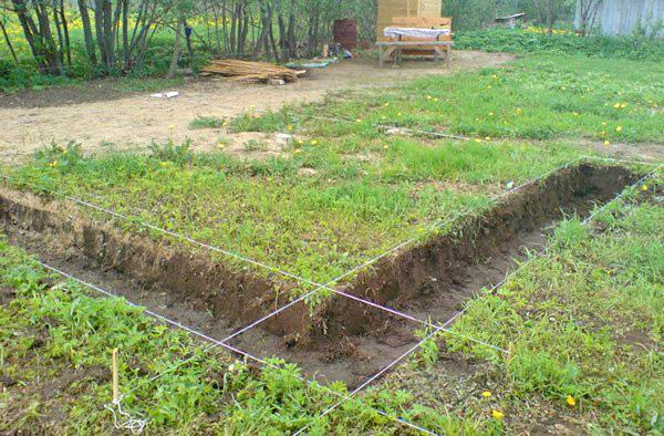 как сделать фундамент под дом фото