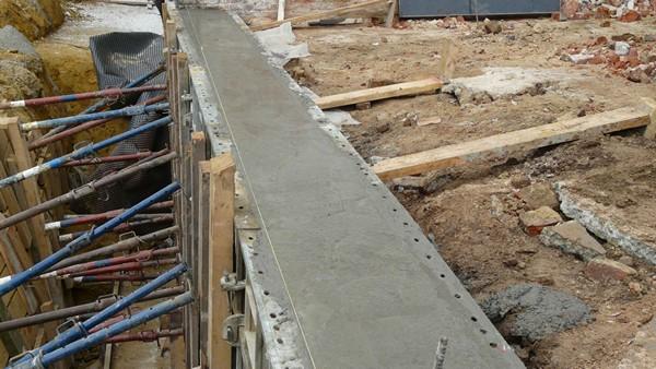 строительство фундамента под дом фото