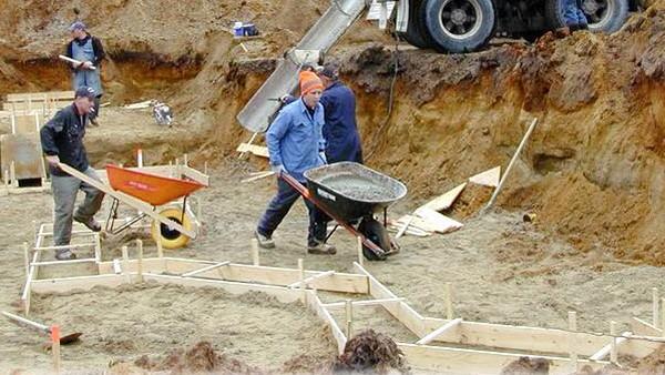 с чего начать бетонировку двора