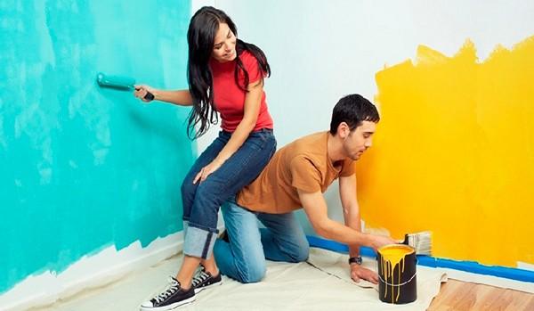 как покрасить стены своими руками фото