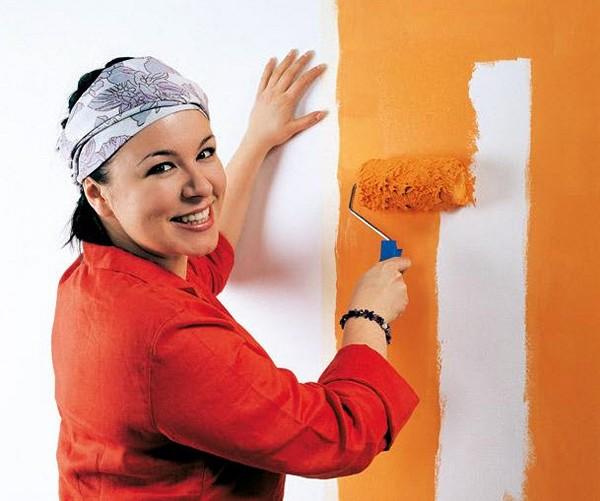 технология покраски стен фото