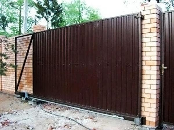 как сделать раздвижные ворота своими руками